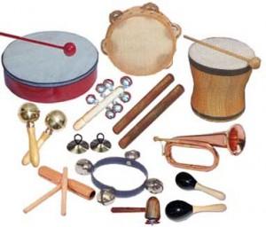 Pro hry s rytmem můžete využít i různé rytmické nástroje